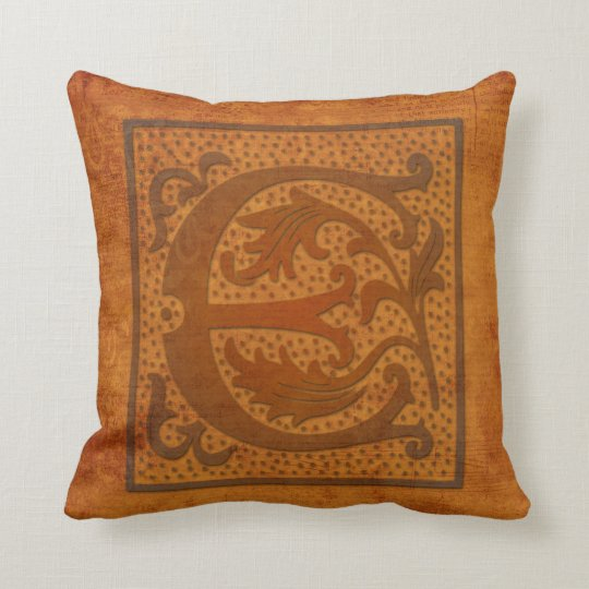 Gorgeous E Monogram/Old Letter Pillow! Cushion