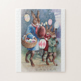 Gorgeous Easter Bunny Parade Puzzle