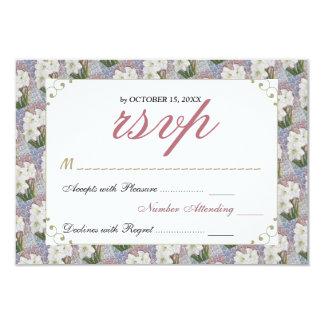 GORGEOUS ELEGANT WHITE AMARYLLIS FLOWER RSVP CARD