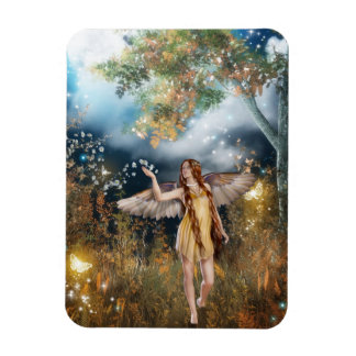Gorgeous fairy taking a stroll in the moonlight. rectangular photo magnet