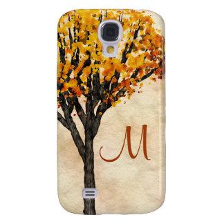 Gorgeous Fall Autumn Tree Monogram Initial Galaxy S4 Case