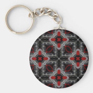 Gorgeous fantasy medieval kaleidoscope basic round button key ring