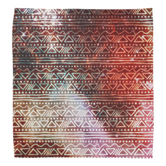 Gorgeous Galaxy Tribal Geometric Red Pattern Kerchiefs