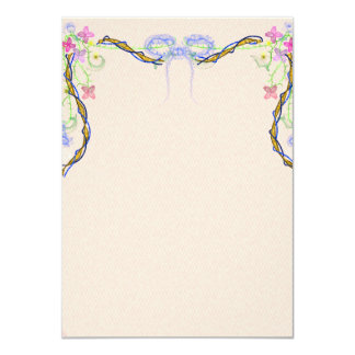 Gorgeous garland invitation card