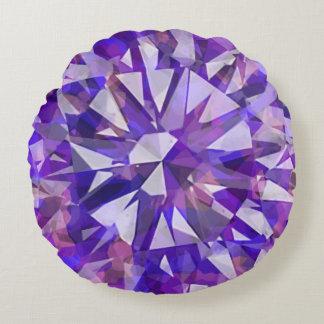 Gorgeous Gem Purples Round Cushion