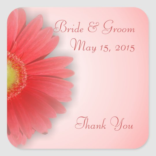 Gorgeous Gerbera Wedding Stickers