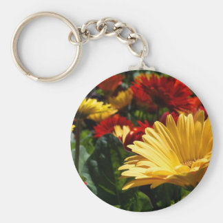Gorgeous Gerbers Basic Round Button Key Ring