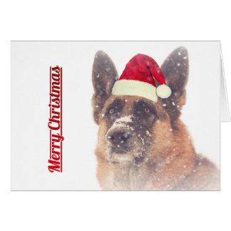 Gorgeous German Shepherd Holiday Greeting Card