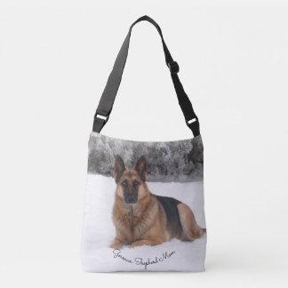Gorgeous German Shepherd in the Snow Crossbody Bag