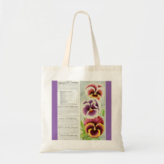 Gorgeous Giant Pansies Budget Tote Bag