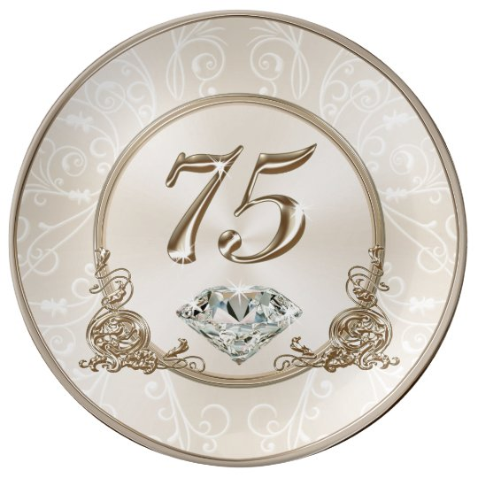 Gorgeous Gifts For 75 Year Old Woman 75 Plate