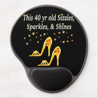 GORGEOUS GOLD 40TH SHOE QUEEN GEL MOUSE PAD