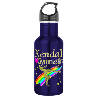 GORGEOUS GOLD CUSTOM GYMNAST WATER BOTTLE