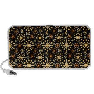 Gorgeous Golden and Silver Snowflakes Pattern Laptop Speaker