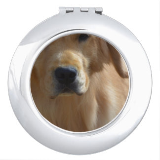 Gorgeous Golden Retriever Travel Mirrors