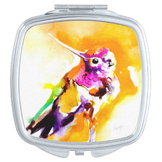 """Gorgeous Gorget"" Hummingbird Print Mirrors For Makeup"