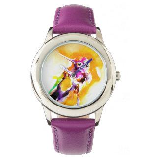 Gorgeous Gorget Hummingbird Print Watch