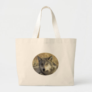 Gorgeous Gray Wolf Tote Bags