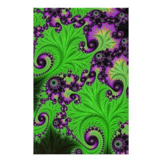 Gorgeous Green Amethyst Fractal Custom Stationery