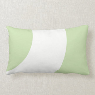 Gorgeous green and white lumbar pillow