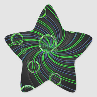 GORGEOUS GREEN BUBBLES STAR STICKERS