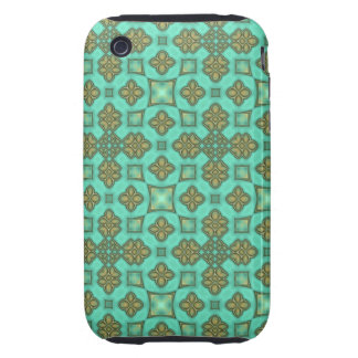 Gorgeous Green Digital Art Abstract Tough iPhone 3 Covers