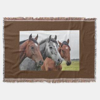 "Gorgeous Horse Head Throw Blanket 54""L x 38""W"