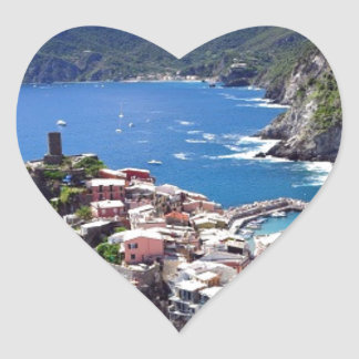 Gorgeous Italian Seaside Heart Sticker