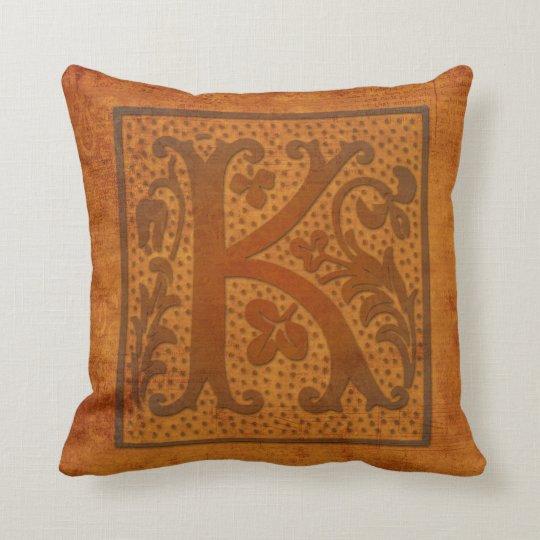 Gorgeous K Monogram/Old Letter Pillow! Cushion
