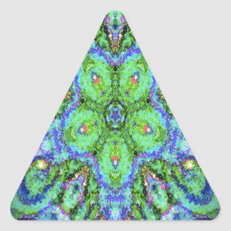 Gorgeous kaleidoscope design image triangle sticker