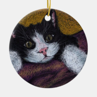Gorgeous kitty christmas ornament
