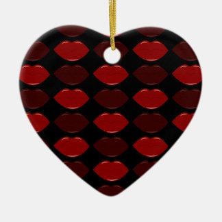 GORGEOUS LIPS CERAMIC HEART DECORATION