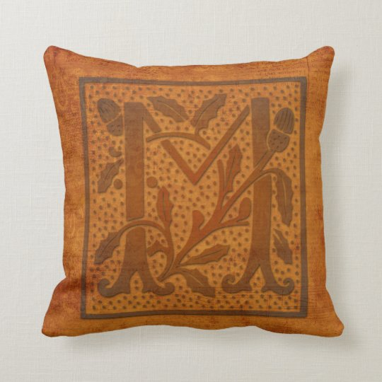 Gorgeous M Monogram/Old Letter Pillow! Cushion