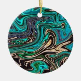 Gorgeous Marble Style - Paradise Christmas Ornament
