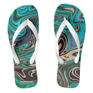 Gorgeous Marble Style - Paradise Flip Flops