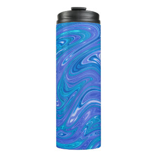 Gorgeous Marble style - vivid blue Thermal Tumbler
