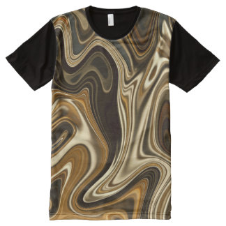 Gorgeous Marble Style - Warm brown All-Over Print T-Shirt
