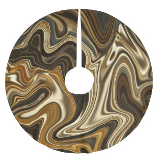 Gorgeous Marble Style - Warm brown Brushed Polyester Tree Skirt