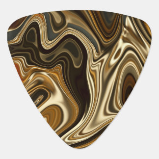 Gorgeous Marble Style - Warm brown Guitar Pick