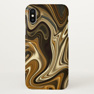 Gorgeous Marble Style - Warm brown iPhone X Case