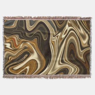 Gorgeous Marble Style - Warm brown Throw Blanket