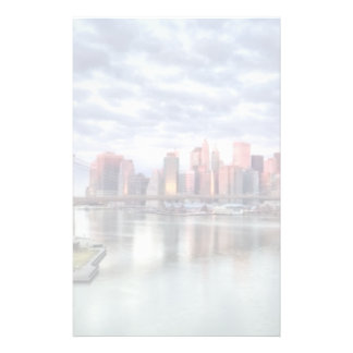 Gorgeous morning view and city reflections customised stationery