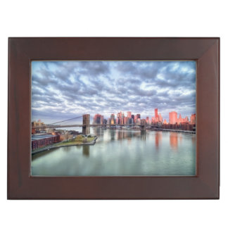Gorgeous morning view and city reflections keepsake box