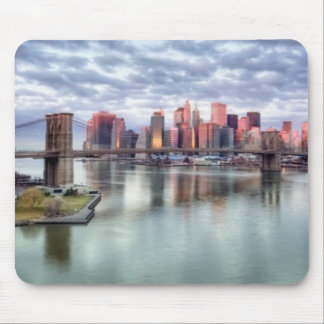 Gorgeous morning view and city reflections mouse mat