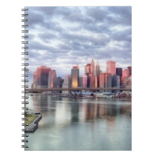 Gorgeous morning view and city reflections notebook