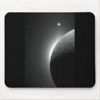 Gorgeous NASA image, the Moon lit by Earth-shine Mouse Mat
