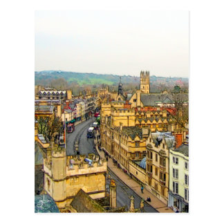 Gorgeous Oxford, England, High Street, The High #4 Postcard