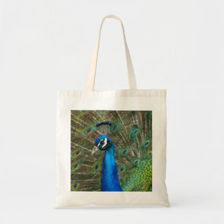 Gorgeous Peacock close-up Tote Bag