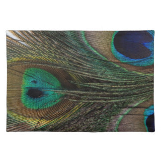 Gorgeous Peacock Feather Placemat