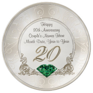 Gorgeous Personalized 20th Anniversary Gifts Plate Porcelain Plates
